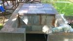 Ironstone firebrick hearth